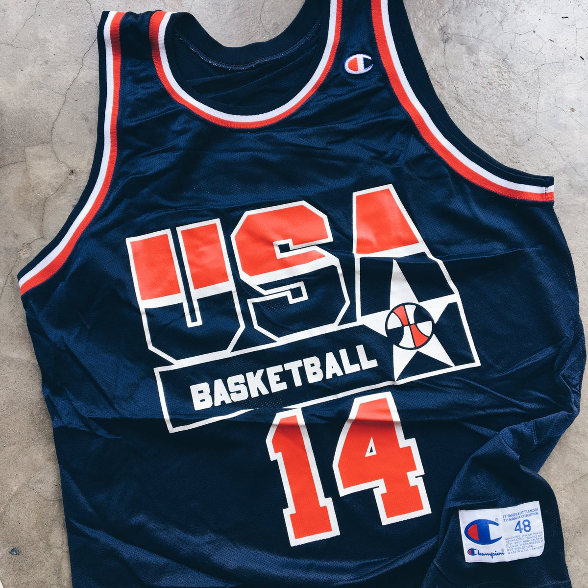 Image of Original 1992 Dream Team Champion USA Alonzo Mourning Jersey.