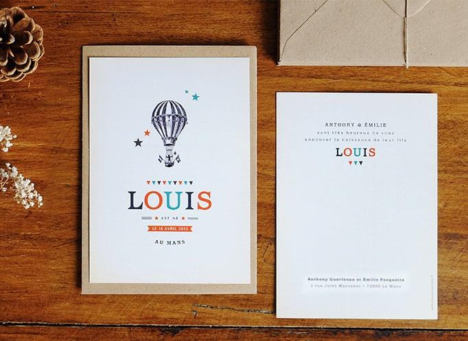Image of Faire-part naissance Louis