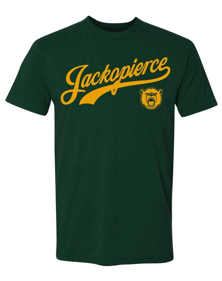 Image of JP Bears Shirt - Men's Unisex Cut - Forest Green/Gold