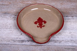 Image of Hand Thrown Stoneware Spoon Rest with Personalization