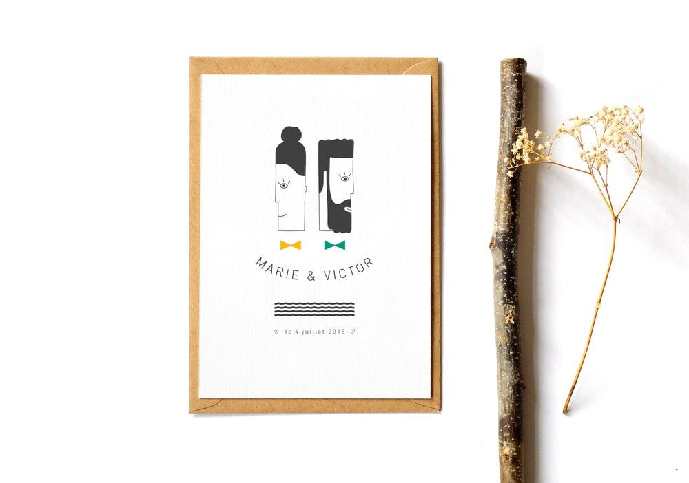 Image of Faire-part Mariage Mr & Mrs
