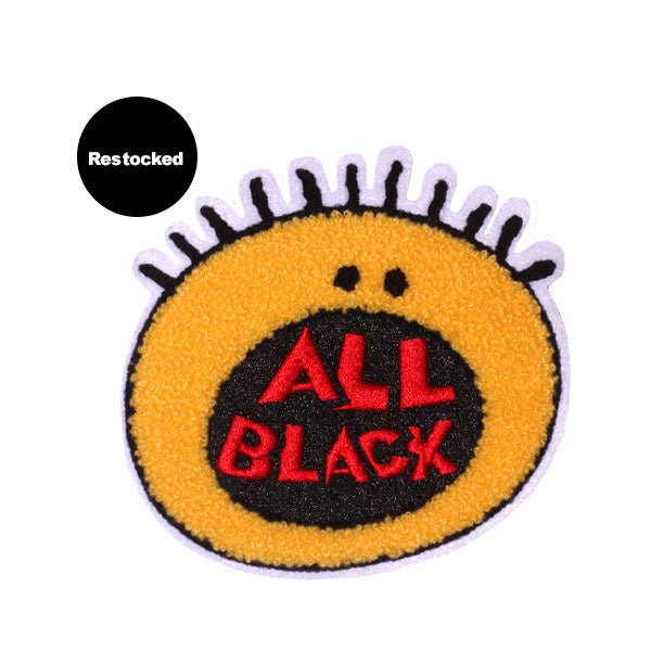Image of All Black Chenille Patch