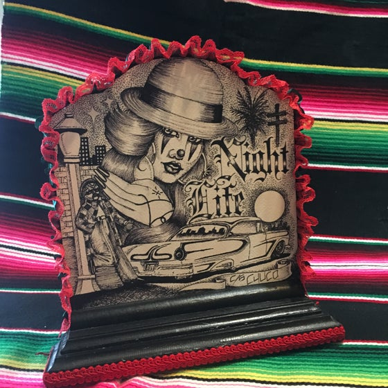 Image of Night Life Collage hand crafted by Chuco (decorative art)