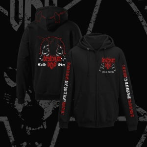 Image of COLD STEEL zipper hoodie
