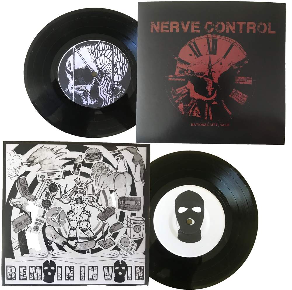 "Image of Nerve Control / Remain In Vain Split 7"" Vinyl"