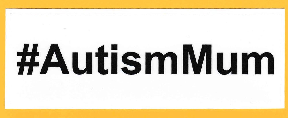 Image of #AutismMum bumper/window sticker
