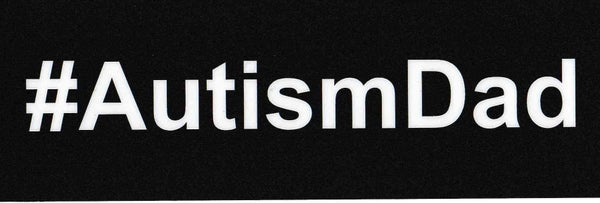 Image of #AutismDad car sticker
