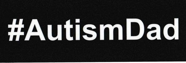 Image of #AutismDad car sticker