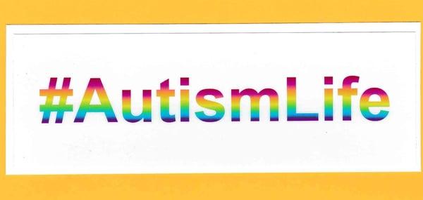 Image of #AutismLife car bumper/window sticker