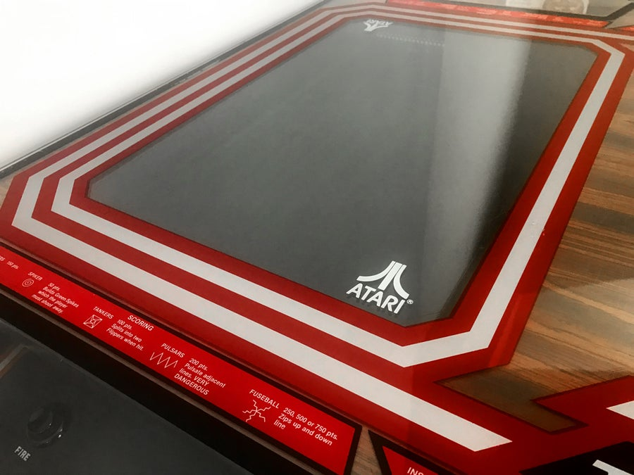 Image of Atari Tempest Cocktail Glass Tinted Plexi Underlay