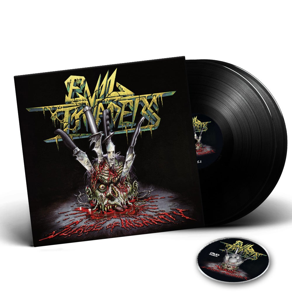 Image of PRE-ORDER / Surge Of Insanity - Live Album 2 LP Gatefold Vinyl edition + DVD CD