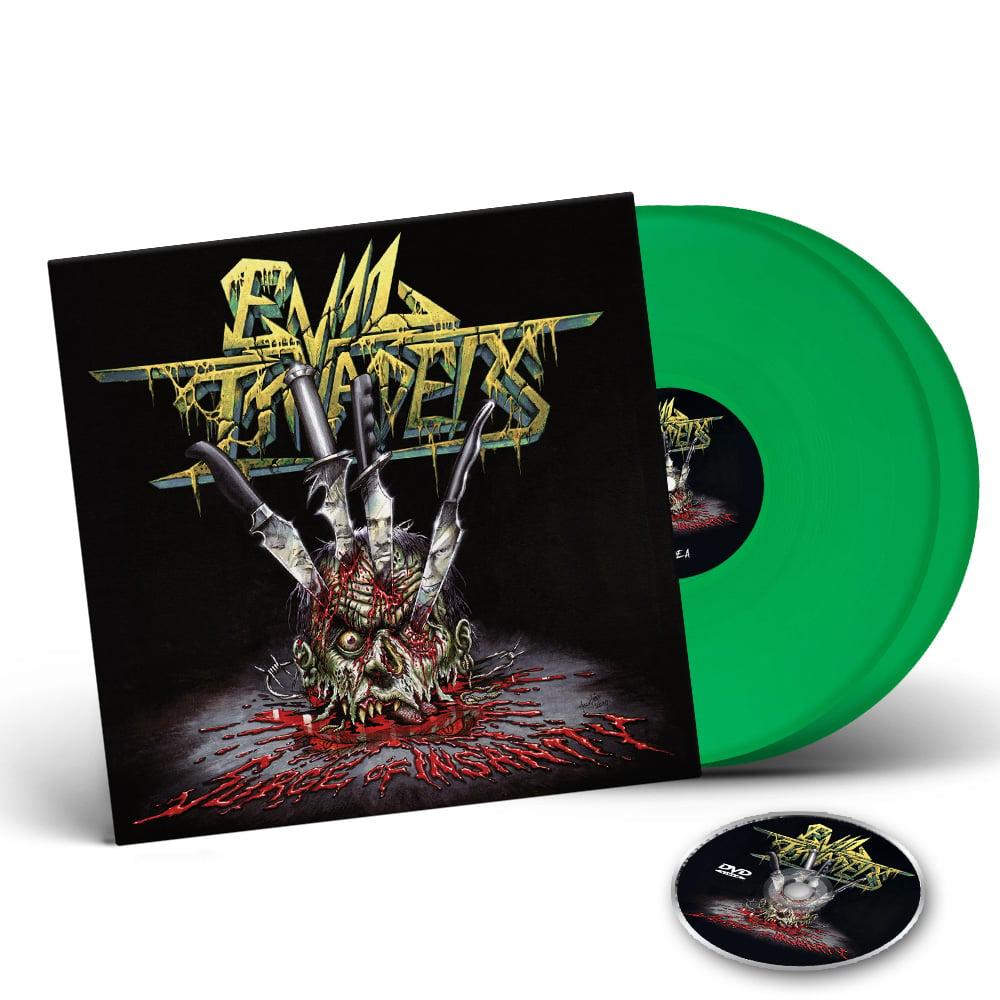 Image of Surge Of Insanity - Live Album - 2 LP Gatefold Colour Vinyl edition + DVD CD