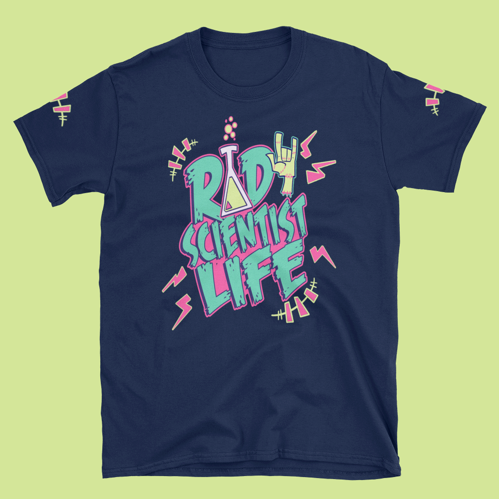 Image of RAD SCIENTIST LIFE NAVY TEE