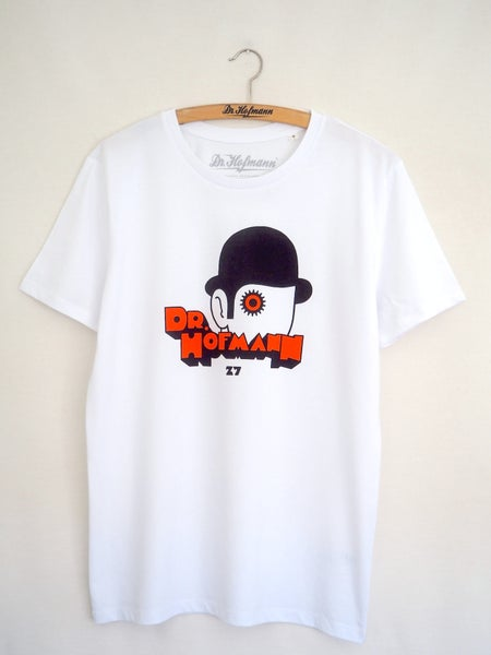 "Image of ""CLOCKWORK ORANGE TEE"" - organic cotton - white"