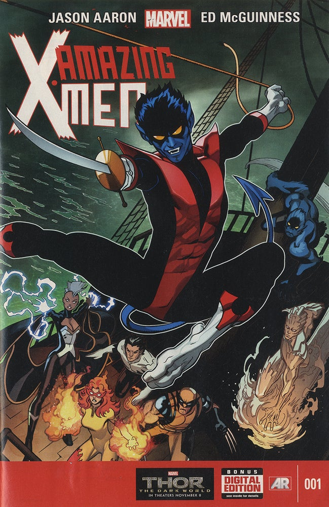 Image of The Amazing Xmen Night Crawler Cover,  (Marvel Cover, Variant Edition 001)