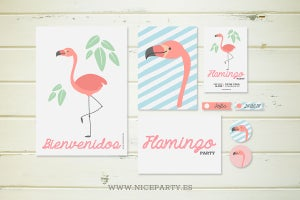 Image of Pack imprimible Flamingo