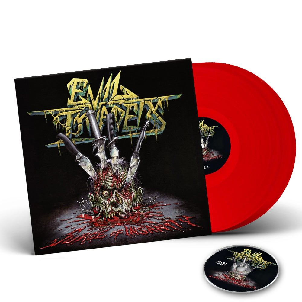 Image of Surge Of Insanity - Live Album - 2 LP Gatefold Colour Vinyl edition + DVD CD