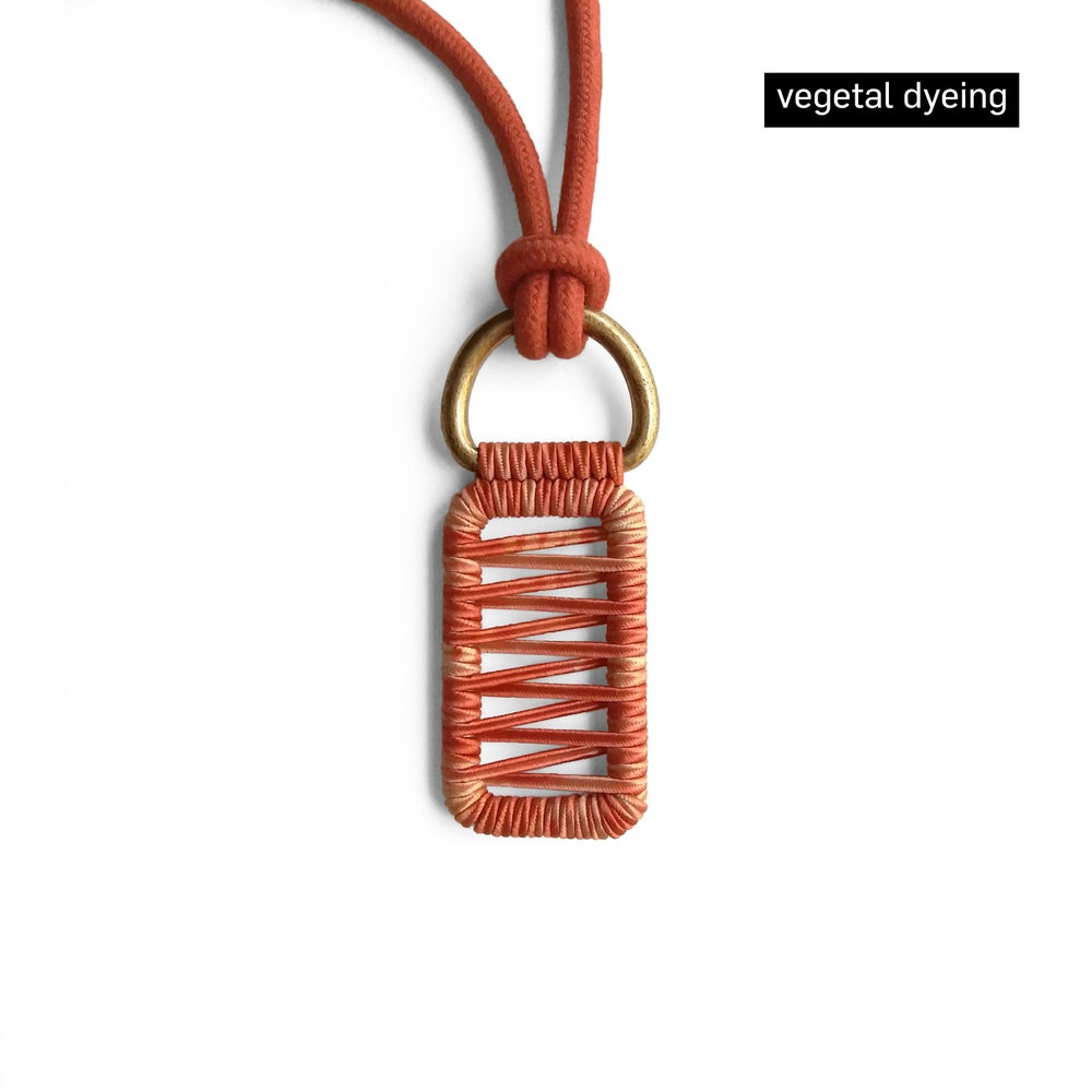 Image of small pendant woven necklace #1743b, Limited Edition
