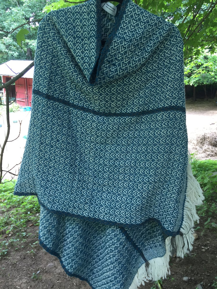 Image of Hearts of Teal Poncho