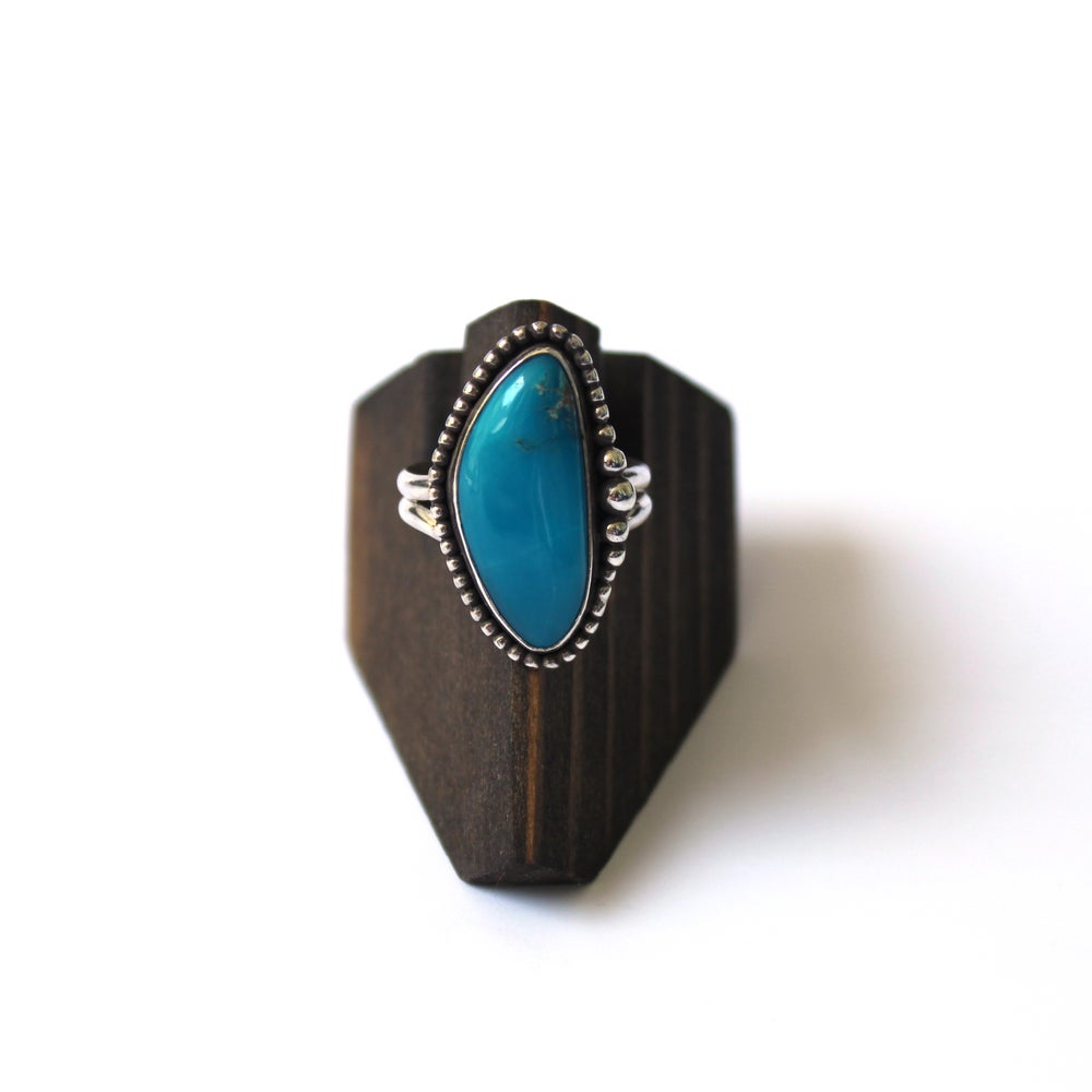Kingmen Turquoise Sterling Silver Ring - Size 9