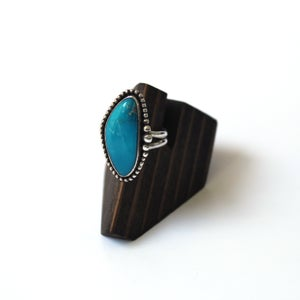 Image of Kingmen Turquoise Sterling Silver Ring - Size 9