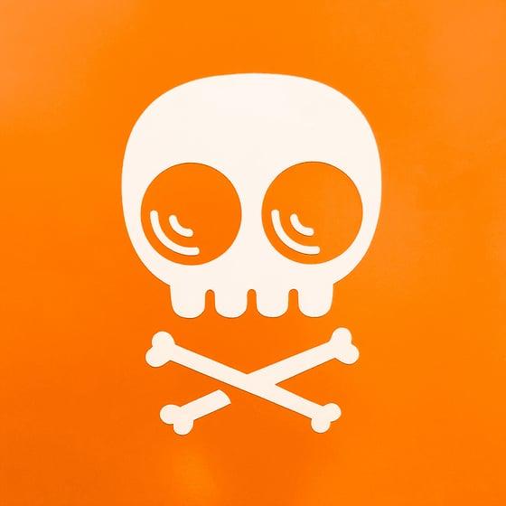 Image of Skully & Crossbones Transfer Sticker