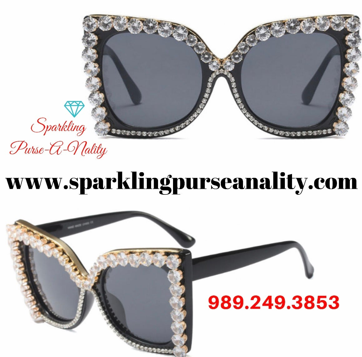 "Image of ""Sparkling"" Bling Bling Sunglasses"