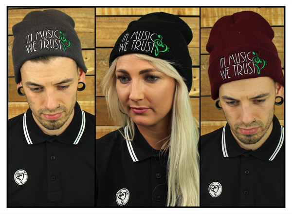 Image of Beanie - (Grey/Black/Burgundy)