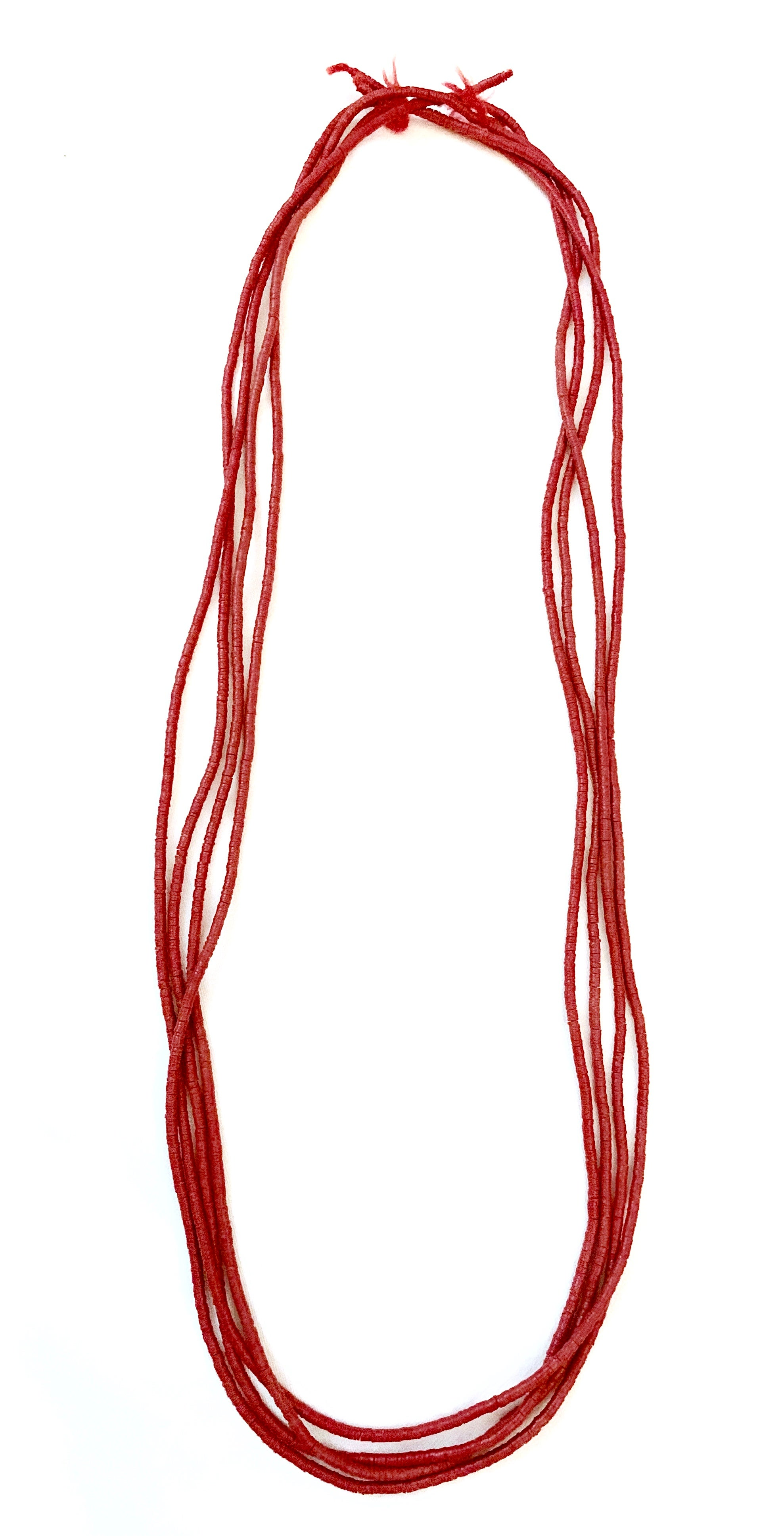 Image of Coral red Trade beads necklace
