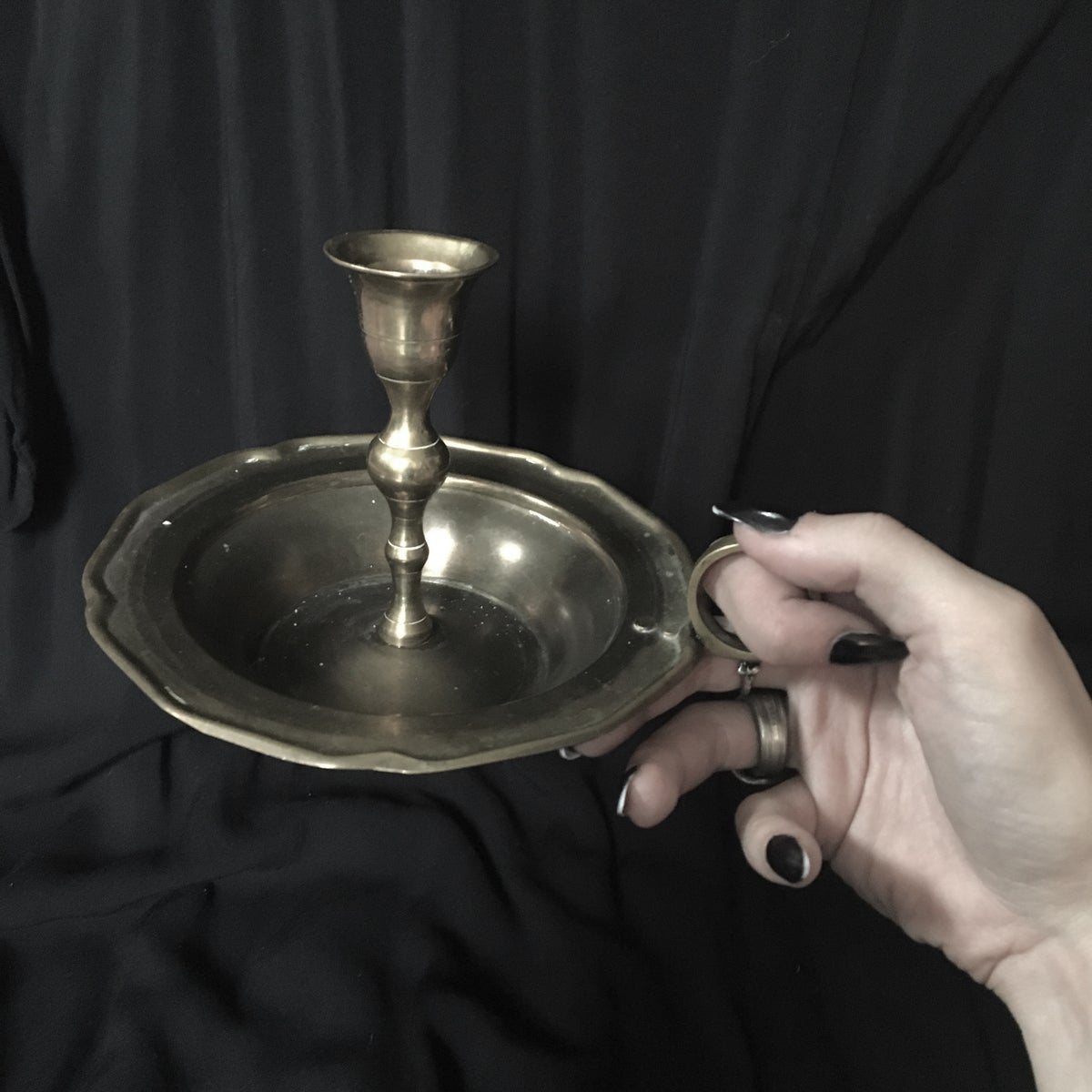 Image of Brass Candlestick Holder