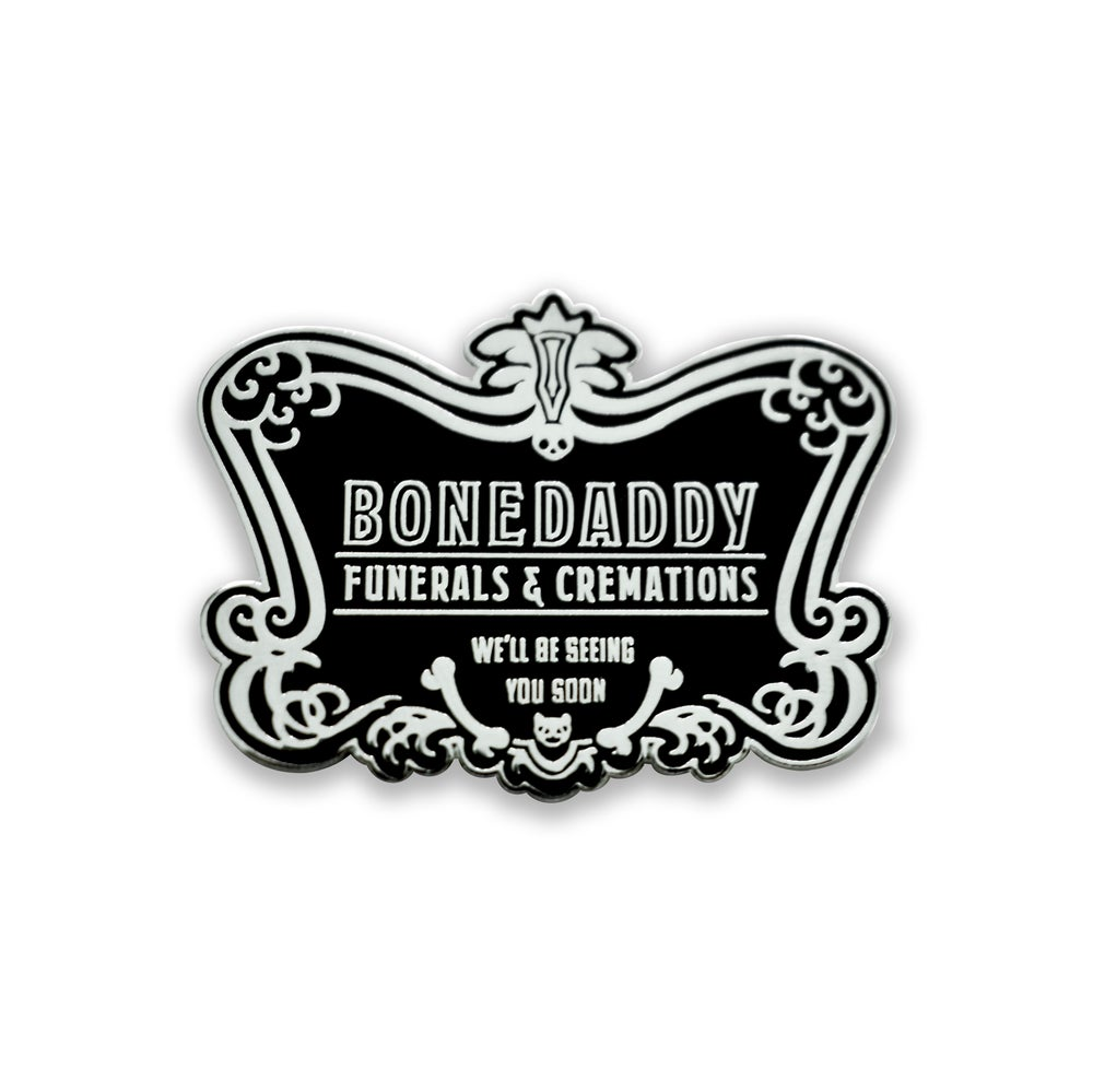 Image of Funeral Sign Enamel Pin