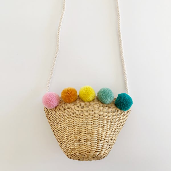 Image of Original Rainbow Pom Purse