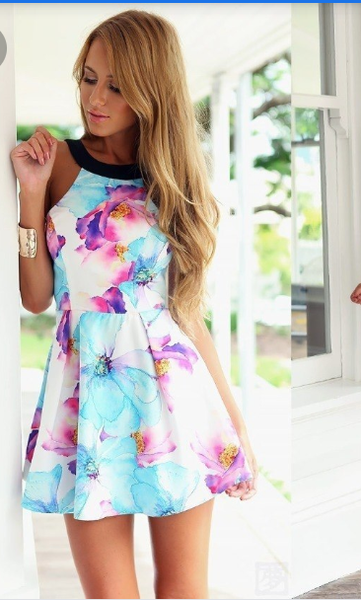 Image of Floral print party dress