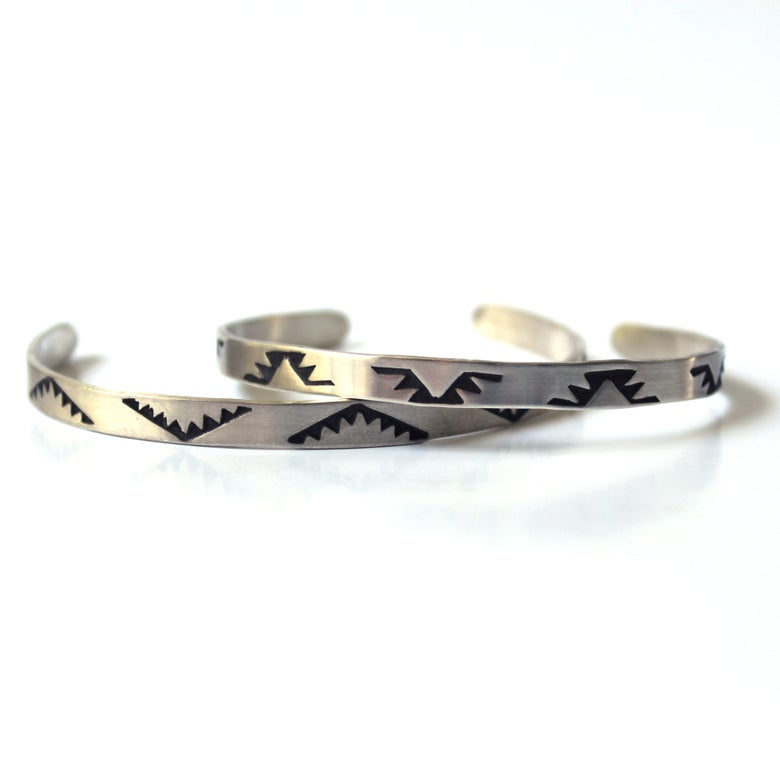 Image of Stamped Sterling Silver Cuff