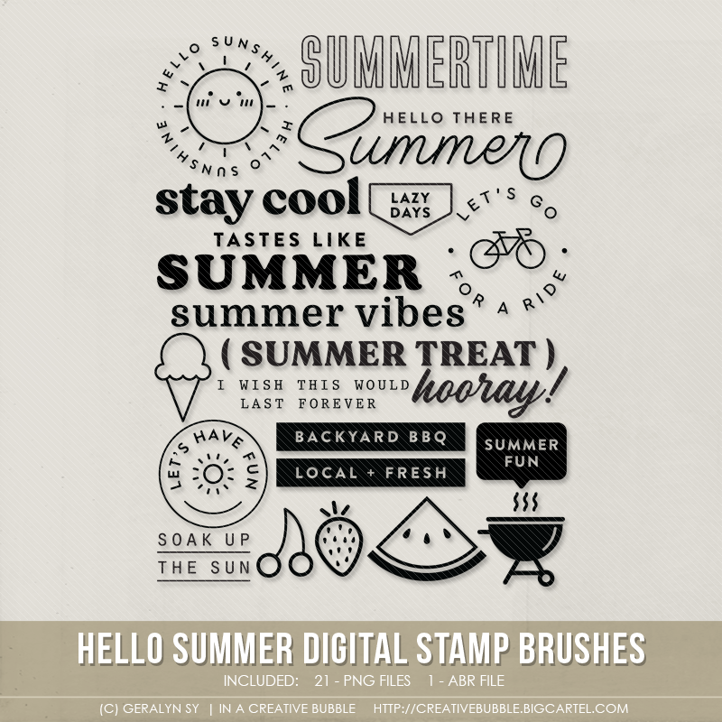 Image of Hello Summer Stamp Brushes (Digital)