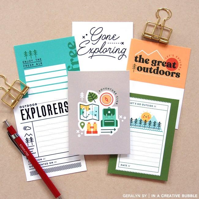 Image of Outdoor Explorer Journaling Cards (Digital)