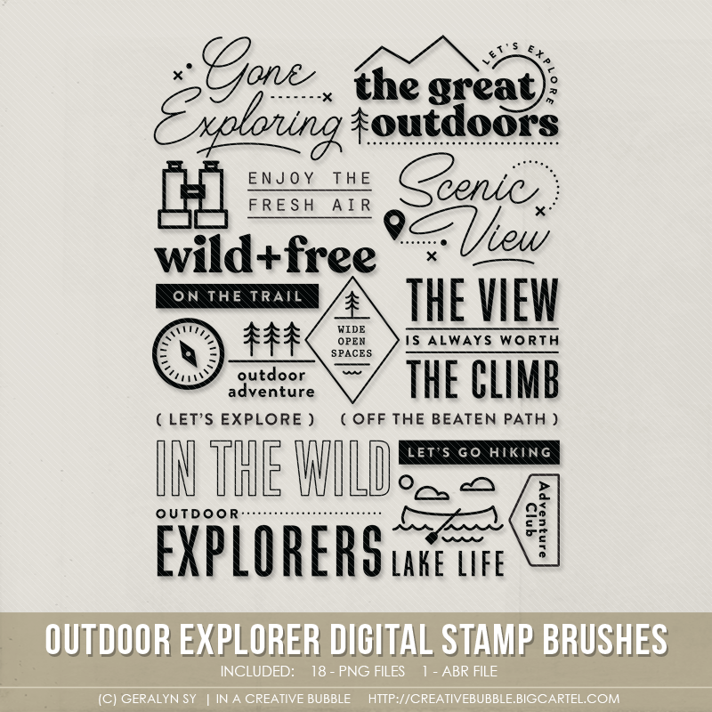 Image of Outdoor Explorer Stamp Brushes (Digital)