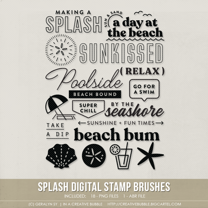 Image of Splash Stamp Brushes (Digital)