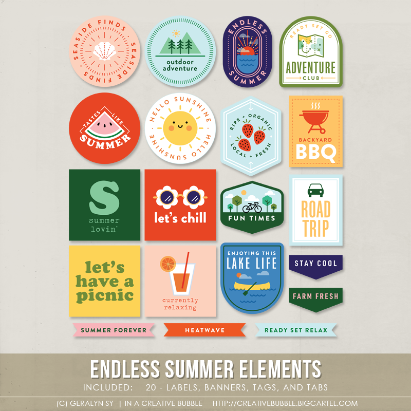 Image of Endless Summer Elements (Digital)