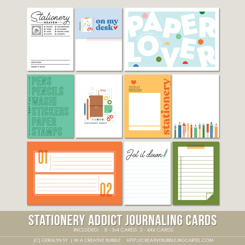 Image of Stationery Addict Journaling Cards (Digital)