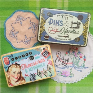 Image of Pins & Needles Sewing and Treasures Tins