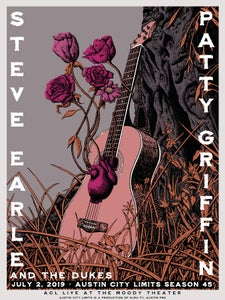 Image of Patty Griffin and Steve Earle & The Dukes ACL Poster