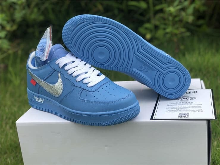 Air Force 1 Low Off White Mca University Blue Freethrowboutique