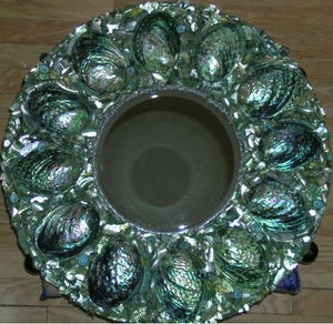 Image of Green Mermaid, Seashell Mirror