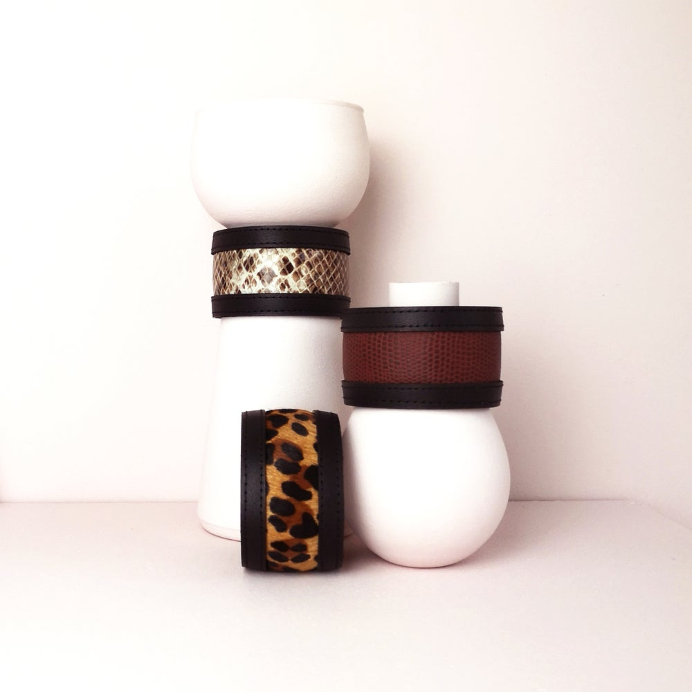 Image of ELEMENTS leather cuff bracelet