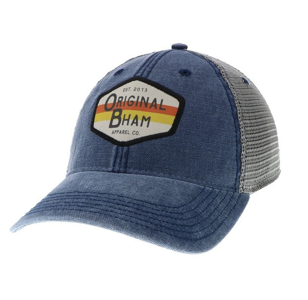 "Image of ""Surf"" Logo Trucker Cap Blue/Gray"