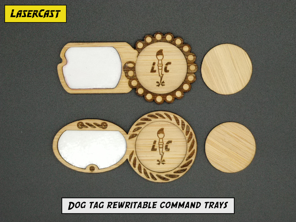Image of Dog tag rewritable command trays