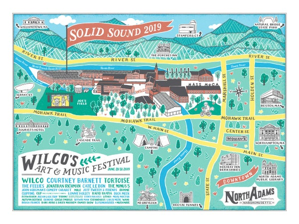 Image of Solid Sound 2019 Map Poster