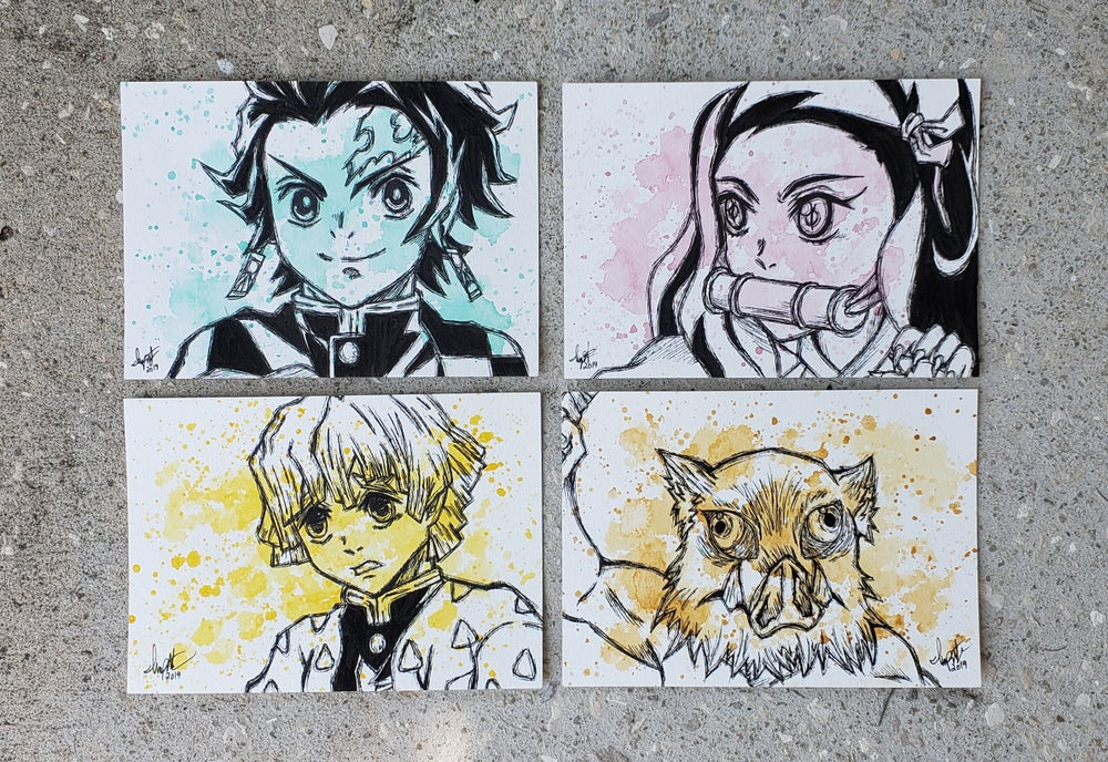 Image of Demon Slayer Kimetsu no yaiba Character Set