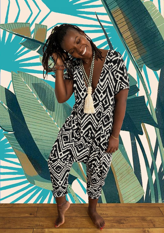 Image of •JéJé• Leisure Jumpsuit:              abstract ikat